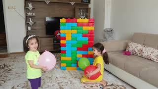 Elifnur ve Zeynep'in Rengarenk Balonlarını Kim Patlattı? Yaramaz Spaydırmen-Who popped the balloons