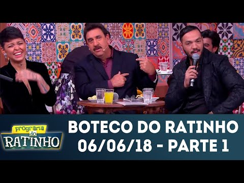 Boteco Do Ratinho - Parte 1 | Programa Do Ratinho (06/06/2018)