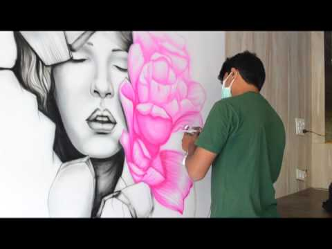 Air brush wall art by Shiva Ranjan