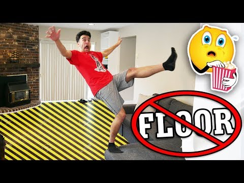 TRY NOT TO TOUCH THE FLOOR CHALLENGE! (Impossible Floor is Lava Challenge)
