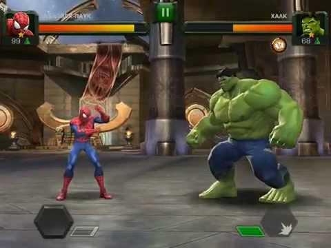 Marvel Битва Чемпионов! Серия 2! Человек паук против Халка! Схватки Супергероев!