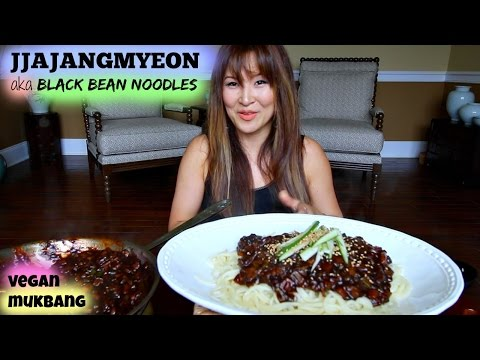 BLACK BEAN NOODLES aka JJAJANGMYEON • Mukbang & Recipe