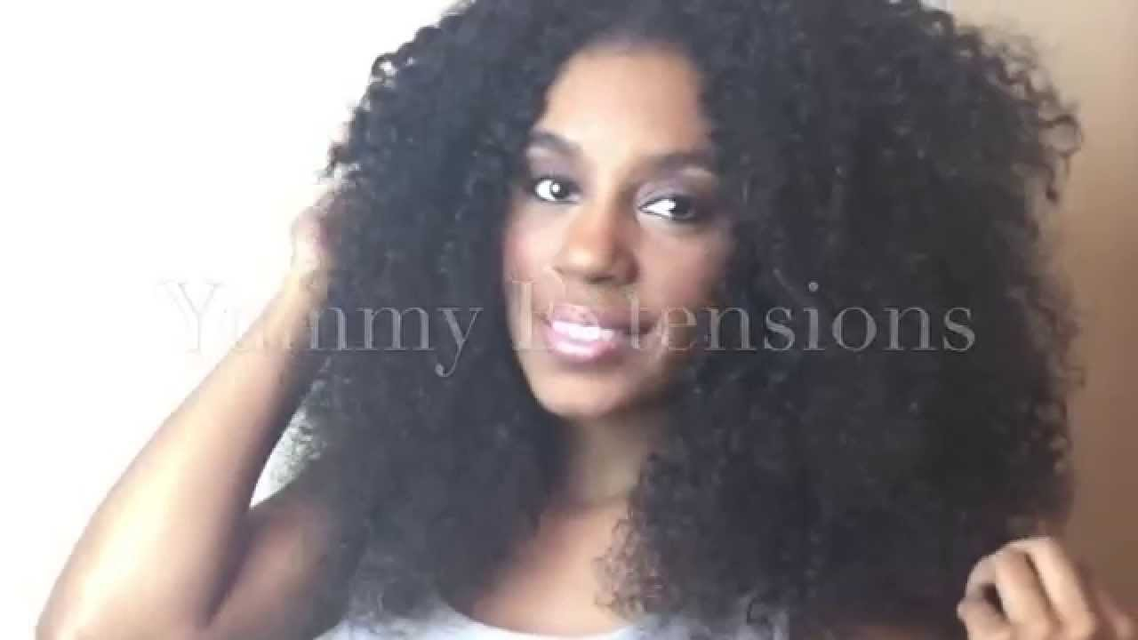Yummy Hair Extensions U Part Wig Tutorial On Natural Hair Youtube