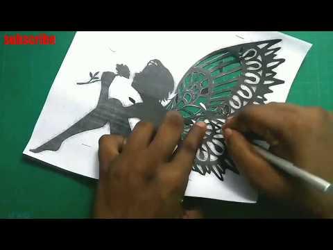 How To Paper Cut   Paper Cut Tutorial /#papercuttingart /rainbow Art   PAPER ORIGAMI   PAPER CRAFT