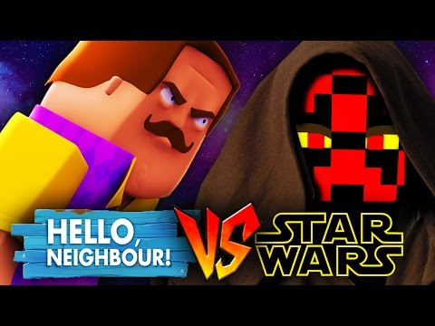 STAR WARS VS HELLO NEIGHBOUR - SECRET JEDI Minecraft Challenge