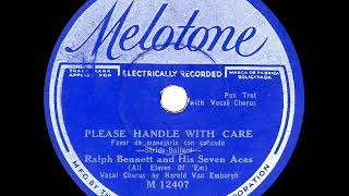 1932 Lou Gold (as 'Ralph Bennett') - Please Handle With Care (Harold Van Emburgh, vocal)