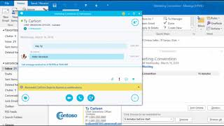 Skype Meetings with Outlook Crash Course