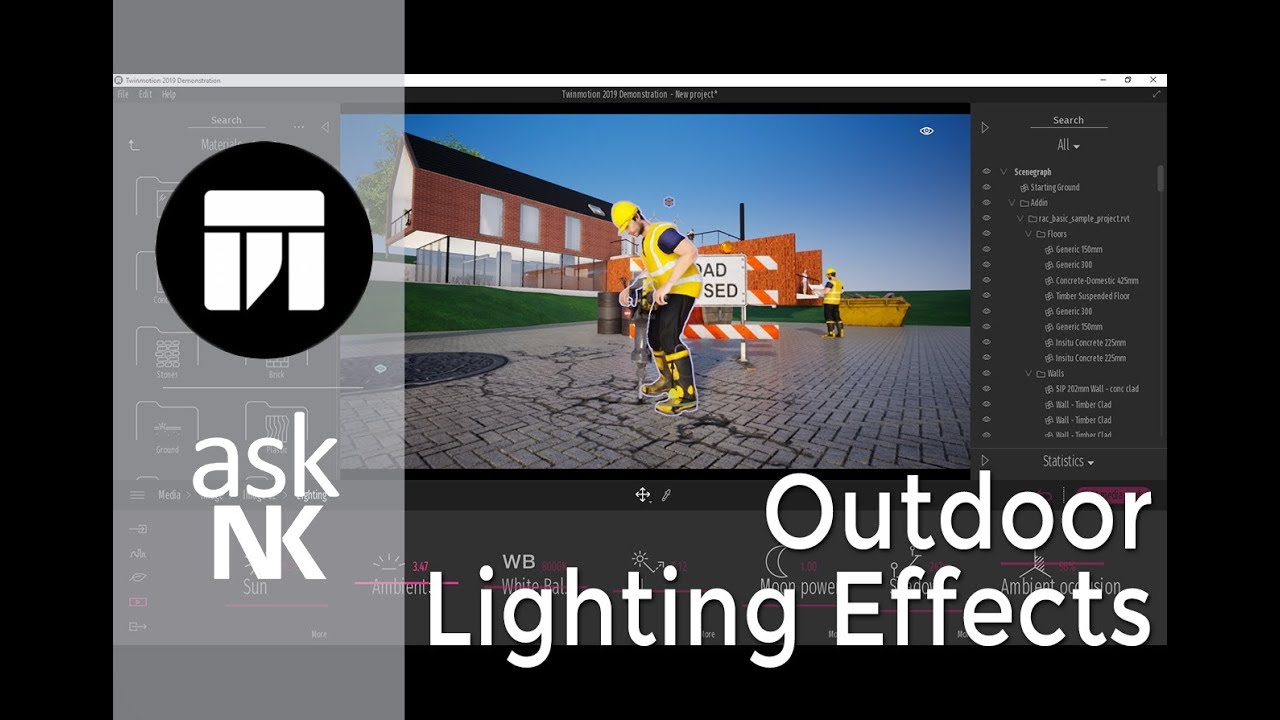 TwinMotion 2019 - Outdoor Lighting Effects by askNK