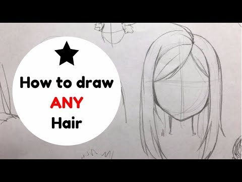 ~How to Draw ANY type of Hair!~PART 1