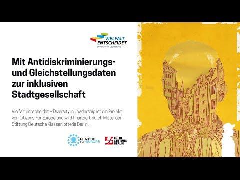 Mit Antidiskriminierungs- und Gleichstellungsdaten zur inklusiven Stadtgesellschaft - Livestream