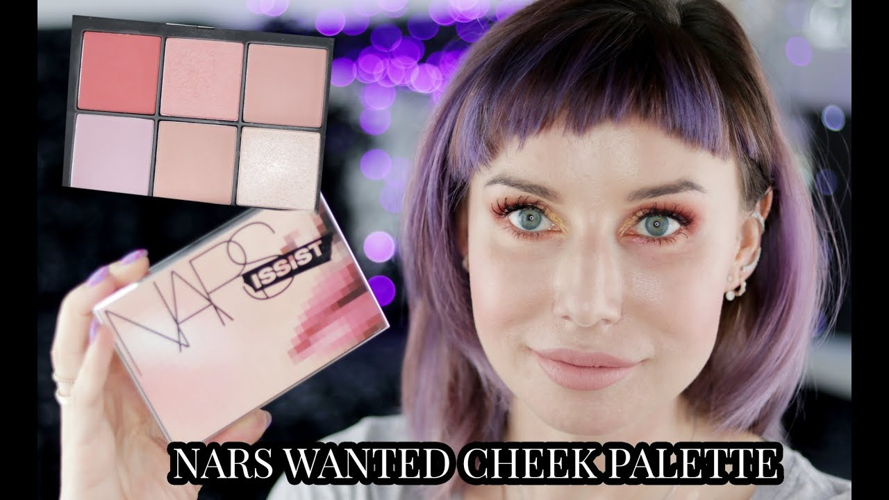 NARS Narsissist WANTED CHEEK PALETTE I test NARS POWERMATTE LIP PIGMENT