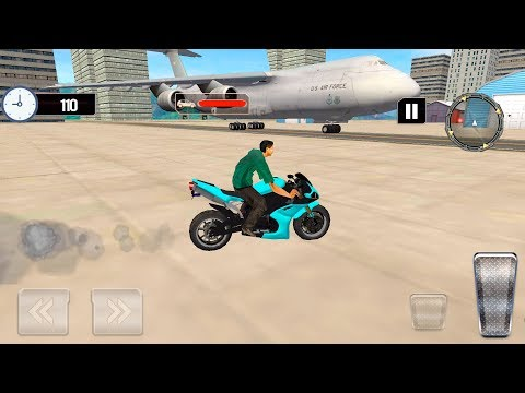 Airplane Bike Transporter Plan - Gameplay Android & iOS games - bike racing game