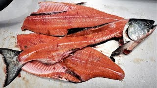 Battered and FRIED Ocean Caught King Salmon Catch and Cook!