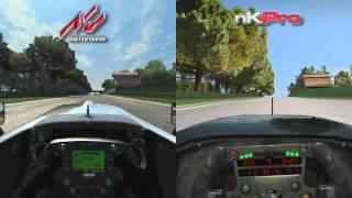 Assetto Corsa vs netKar Pro - Open Wheel @ Imola - Comparison