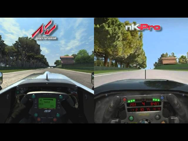 Assetto Corsa vs netKar Pro - Open Wheel @ Imola - Comparison