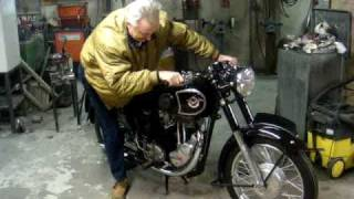 Matchless G 80 S 1954 first start after 30 years!