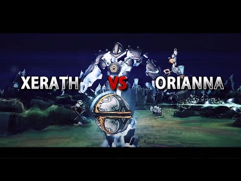 Xerath Nvo Gameplay Season 7 vs Orianna - League of Legends