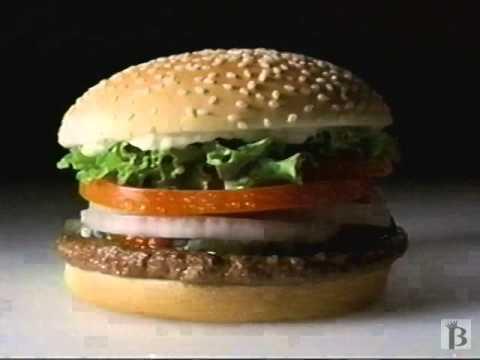 Burger King 99 Cent Menu Canada Commercial 1998