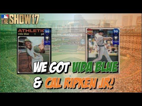 WE GOT VIDA BLUE AND CAL RIPKEN JR! | MLB The Show 17 Programs