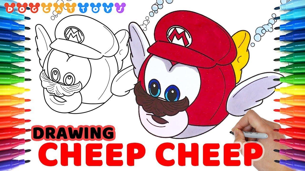 How To Draw Super Mario Odyssey Capture Cheep Cheep 106