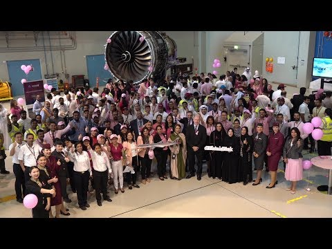 Breast Cancer Awareness across the Qatar Airways Group