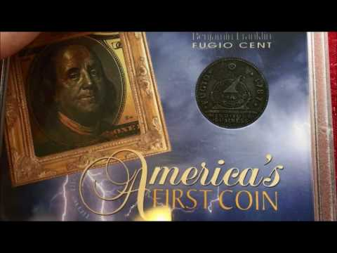 THE FIRST COIN MINTED BY BEN FRANKLIN FUGIO REPLICA