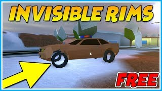 ROBLOX JAILBREAK HOW TO GET INVISIBLE RIMS FOR FREE! [GLITCH]