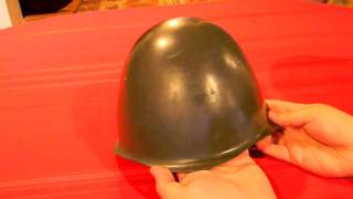 Comparison of Communist and U.S. steel Helmets
