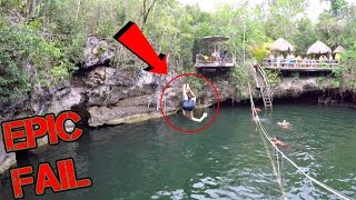 Epic Zip Line Fail Gone Wrong!