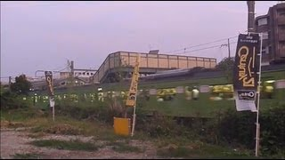 桃山駅と宇治川の花火・JR奈良線 (2) 13.08.09