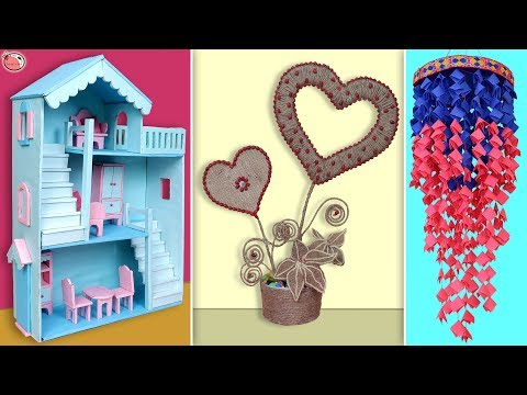 10 Best Craft Idea Out of Waste Materials || DIY Room Decor 2019 !!!