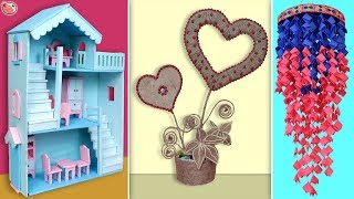 10 Best Craft Idea Out of Waste Materials    DIY Room Decor 2019 !!!