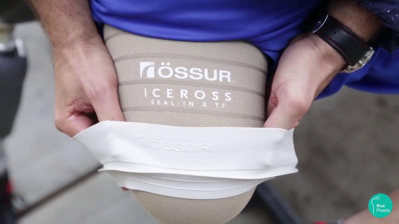 Demonstração do Liner Iceross Transfemoral Seal-In com o joelho microprocessador Rheo Knee3 da Össur