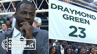 Draymond Green emotional getting Michigan State jersey retired | College Basketball 2019-20