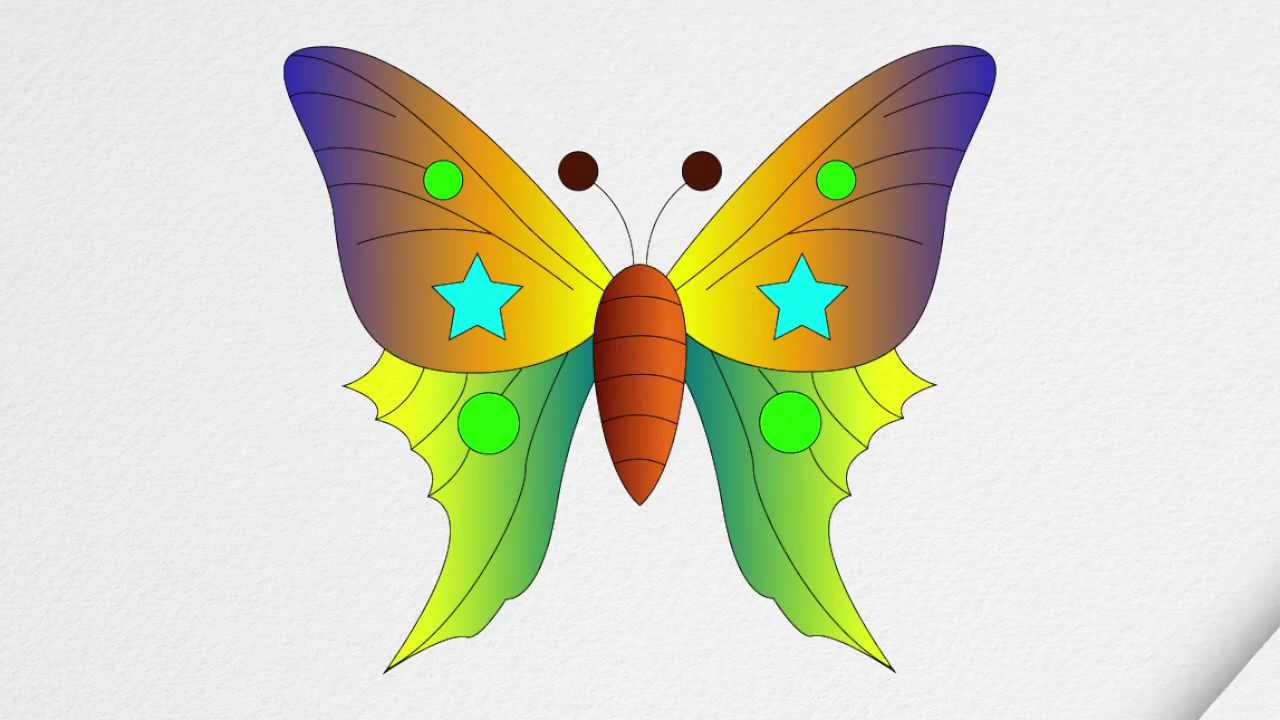 Uncategorized Step By Step Butterfly how to draw a butterfly step by youtube