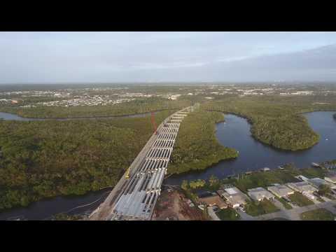 Drone Flight Florida: St. Lucie River Bridge 2/6/18