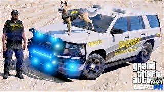 GTA 5 LSPDFR Police Mod #680 2018 Chevy Tahoe K9 Unit