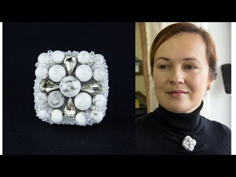 Tutorial How to make a simple brooch with gems and crystals