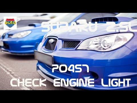 P0457 Subaru fix | How to fix Check Engine Light | Evap Problem