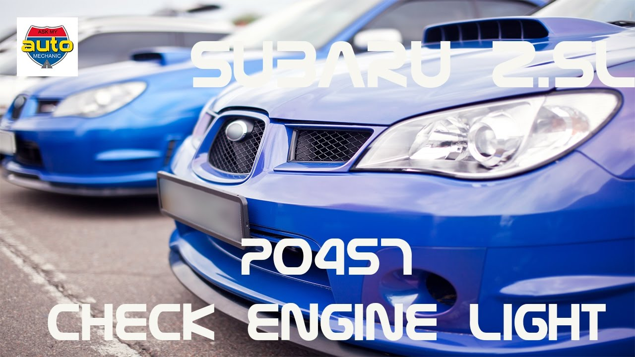 P0457 Subaru Fix How To Check Engine Light Evap Problem Small Diagram Youtube