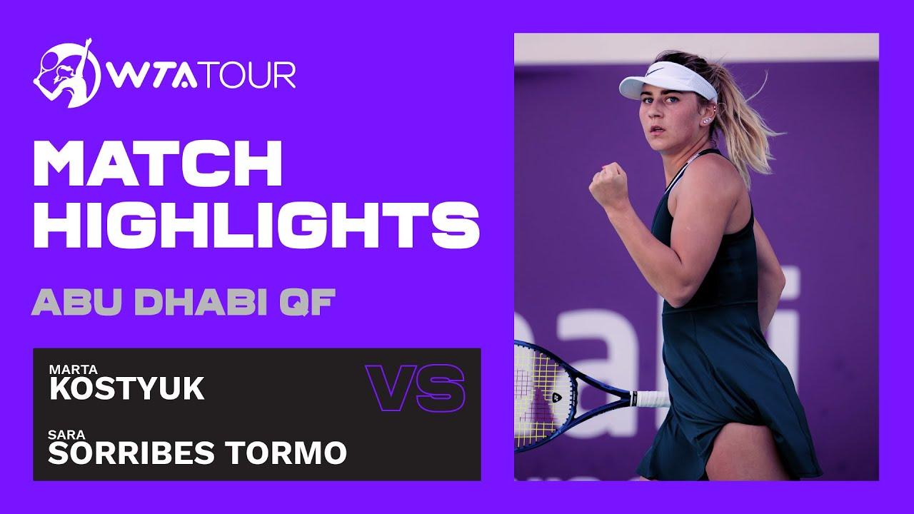 Marta Kostyuk vs. Sara Sorribes Tormo | 2021 Abu Dhabi Quarterfinal | WTA Highlights