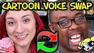 CARTOON VOICE SWAP - Impressions Challenge ft. Brizzy Voices