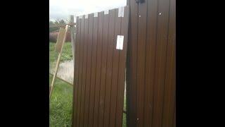 Как крепить профлист на забор в одиночку(Совет от СамоДела., 2016-06-08T21:29:21.000Z)