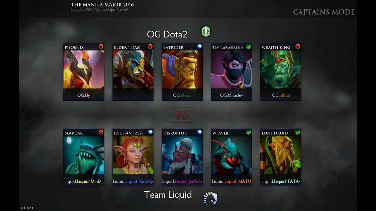 the manila major 2016 team liquid vs og dota 2 grand final game