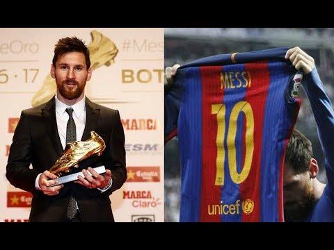 Lionel Messi ● Top 10 Legendary Goals ► Golden Boot Winner 2017