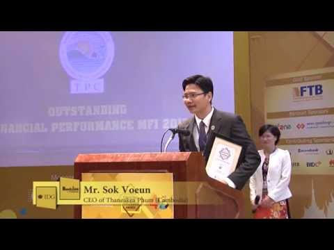 Cambodia Banking Awards 2015: Outstanding Financial Performance MFI (Thaneakea Phum of Cambodia)