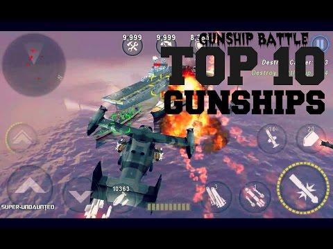 [GUNSHIP BATTLE] Top 10 Most Powerful Gunships