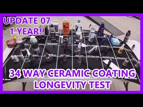 UPDATE 07: 34 Way Ceramic Coating synthetic wax longevity test Perfection Correction LLC
