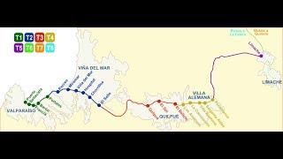 Şili Valparaiso Vina Del Mar Metro Tren Ücretleri
