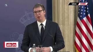 Vučić i Grenel - izjave za medije